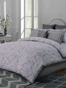 Baroque Scroll Printed Range 210 TC HOMBEDPIE Quilt Cover Queen