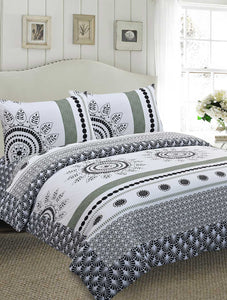 BED SET R2G 17446 Printed Range 144 TC HOMBEDROO