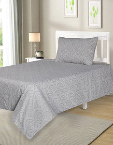 BED SHEET R2G 16259 SINGLE Printed Range 144 TC HOMBEDROO