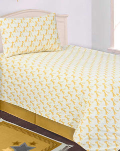 BED SHEET R2G 17012 SINGLE Printed Range 144 TC HOMBEDROO