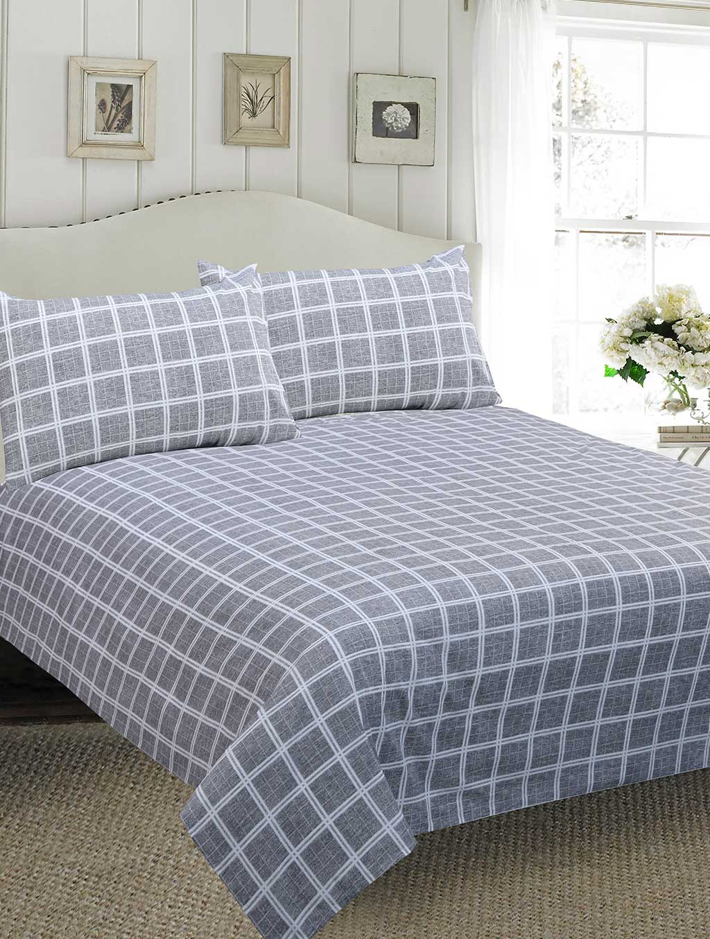 BED SHEET R2G 17451 Printed Range 144 TC HOMBEDROO