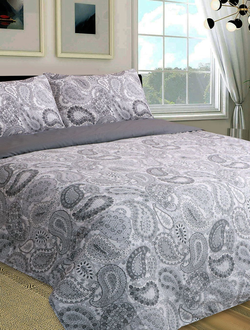 BED SHEET R2G 17729 QUEEN Printed Range 144 TC HOMBEDROO