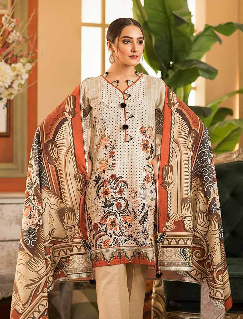 CARIBBEAN KKH-14024 Winter 3 Pcs unstitched FASUNSLAD
