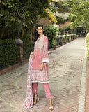 3 Piece Unstitched Flowy Peach Embroidered Linen Suit KLE-15014