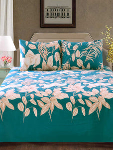 ISLAND LEAF Home Collection 20 HOMBEDCLU BED SHEET QUEEN