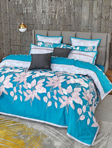 ISLAND LEAF Home Collection 20 HOMBEDCLU QUILT COVER QUEEN