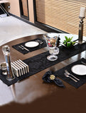 Kitchen Linen Jacquard Black Kitchen Accessories HOMKITLIN 6 Pcs Napkin Set