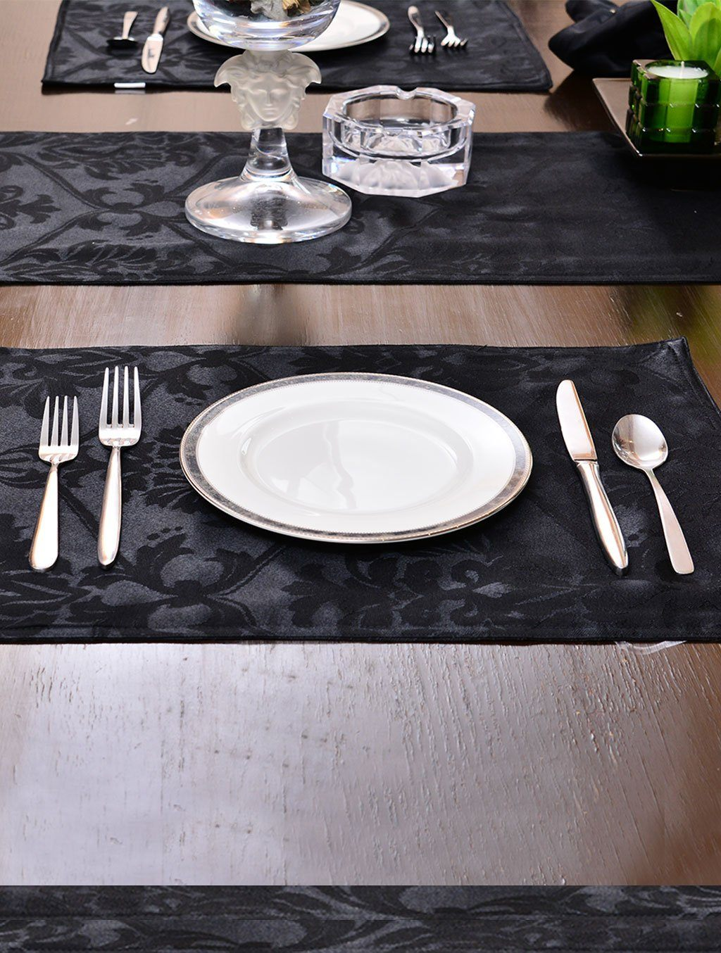 Kitchen Linen Jacquard Black Kitchen Accessories HOMKITLIN