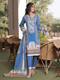 3 Piece Unstitched Printed Lawn Suit KL-1058