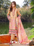 3 Piece Unstitched Printed Lawn Suit KLA-1089