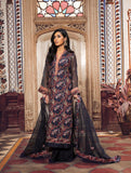 3 Piece Unstitched Anarkali Embroidered Chiffon Suit KNAC-1111
