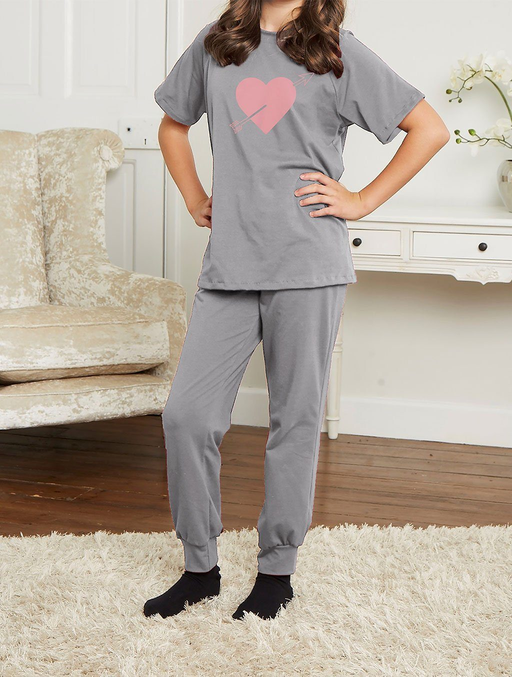 LADIES GREY LOUNGEWEAR LW-024 LOUNGEWEAR FASSTIGIR