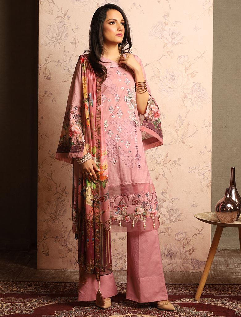 Modish Pink KC - 5078 Khas Lawn 2020 - Volume 1 FASUNSLAD