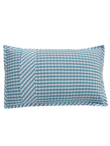 NAUTICAL GINGHAM Home Collection 20 HOMBEDIMP PILLOW COVER 19X29+9""