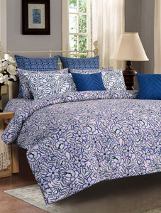Orient Bloom Bed Set PRINTED RANGE 180 TC HOMBEDCLU King