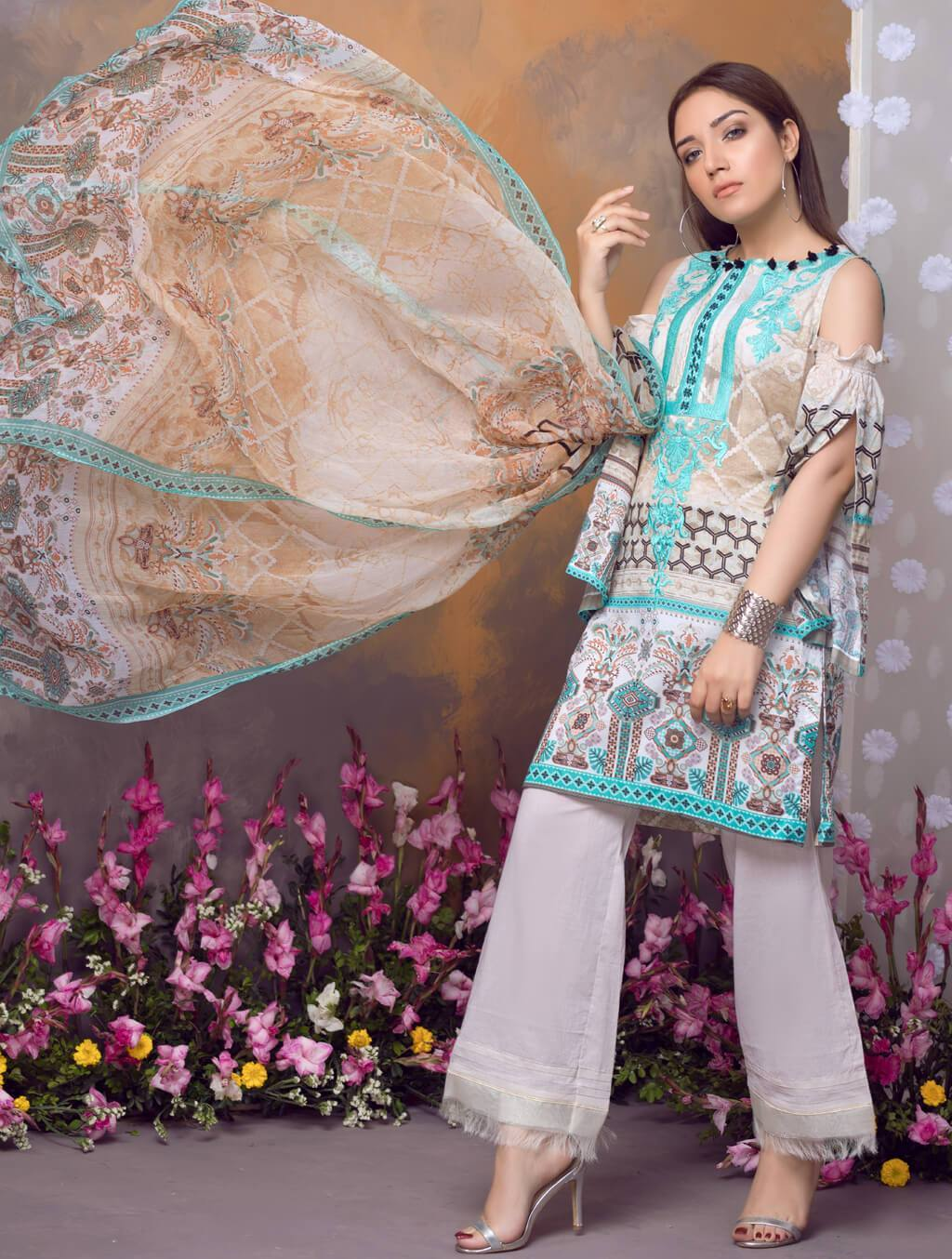 PELMET PEARL KC-5047 Lawn 2019 Volume 2 FASUNSLAD