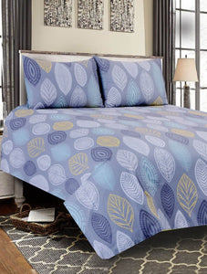 Pictorial Leaf Bed Sheet PRINTED RANGE 180 TC HOMBEDCLU King