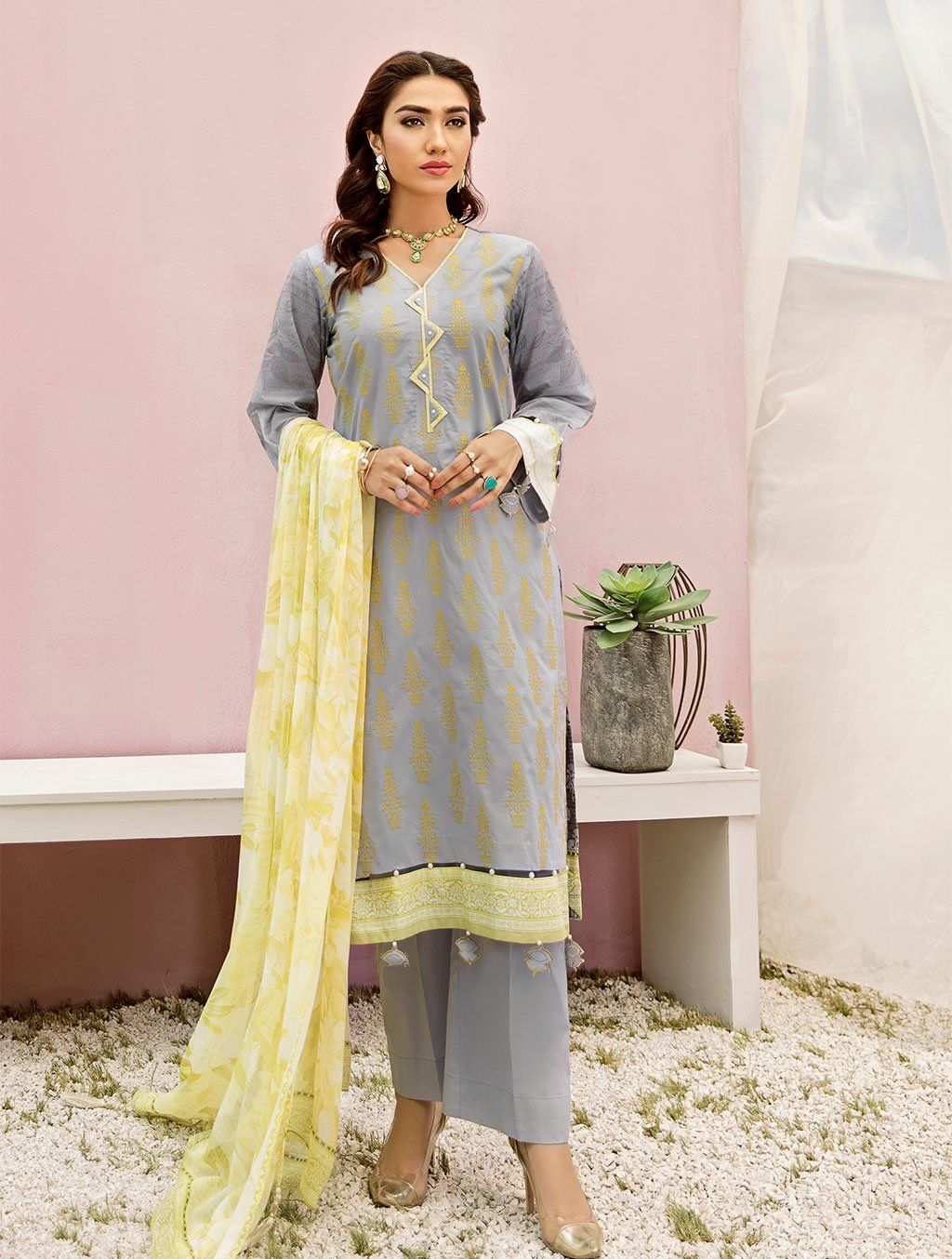 Shirt Shalwar Dupatta KC-5085 Khas Lawn 2020 - Volume 3 FASUNSLAD