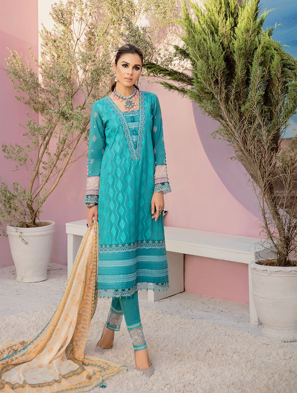 Shirt Shalwar Dupatta KC-5086 Khas Lawn 2020 - Volume 3 FASUNSLAD