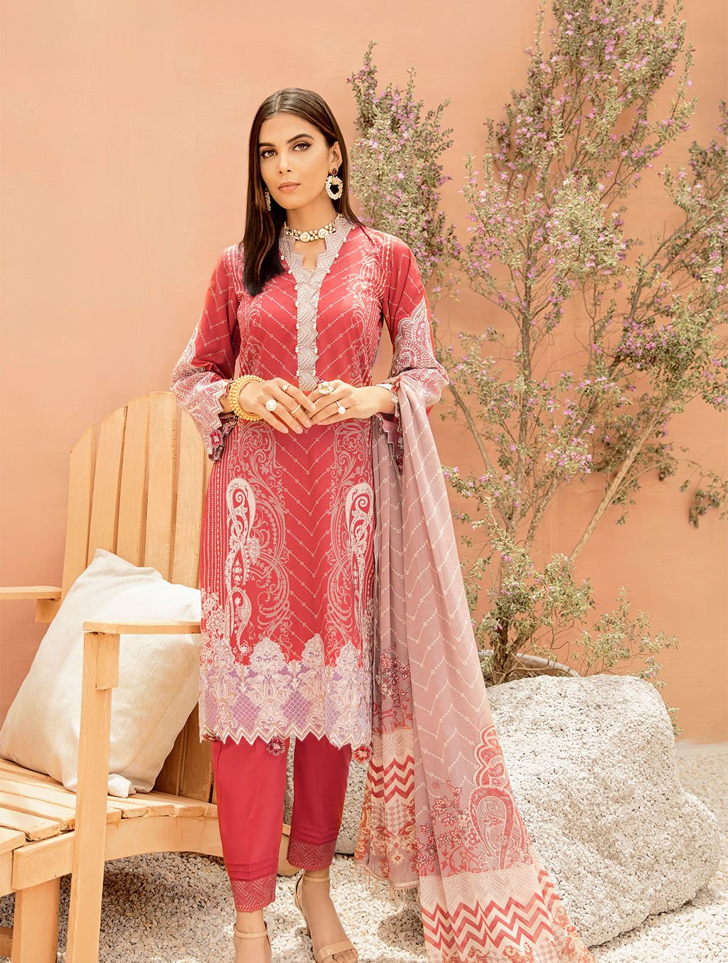 Shirt Shalwar Dupatta KC-5090 Khas Lawn 2020 - Volume 3 FASUNSLAD