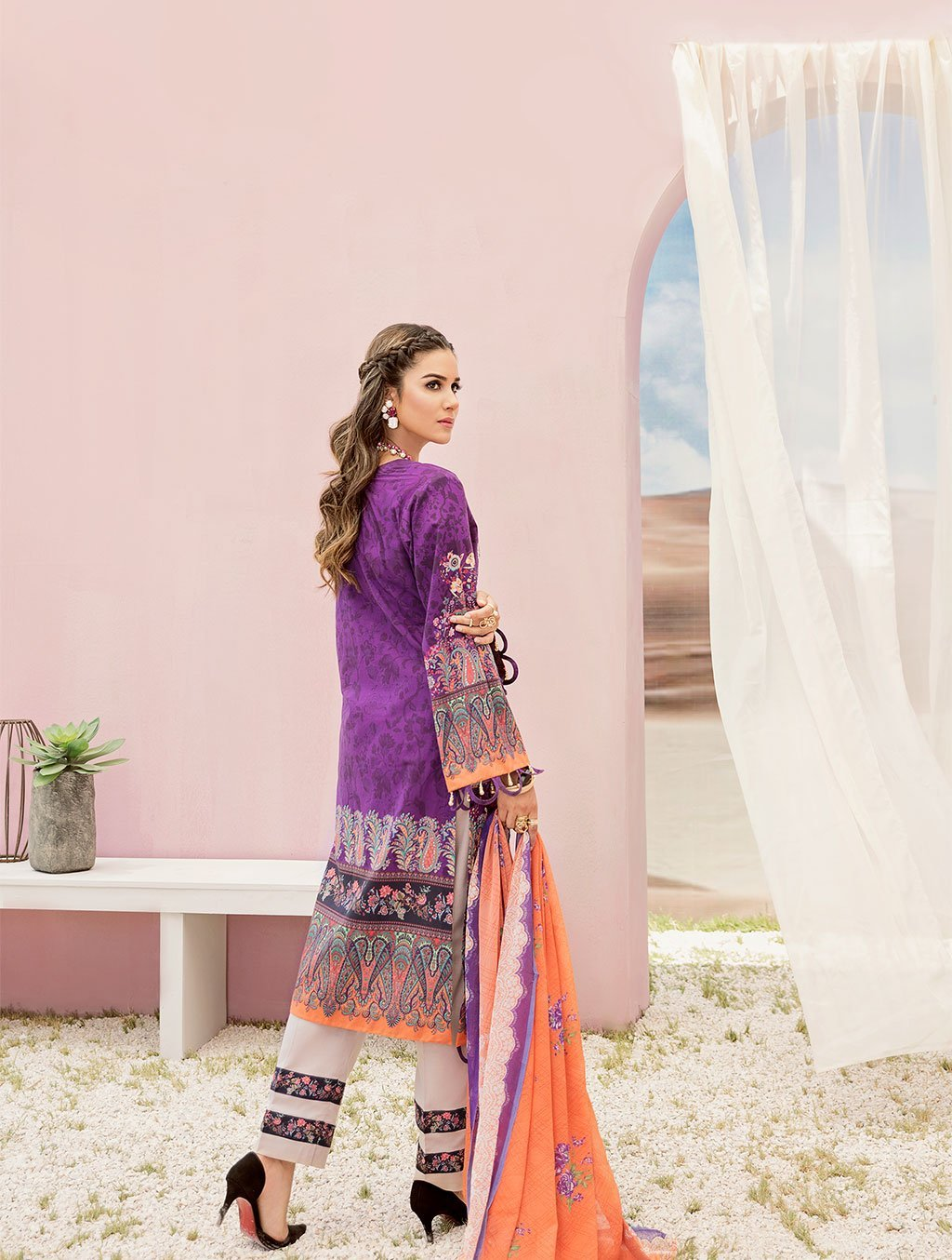 Shirt Shalwar Dupatta KC-5092 Khas Lawn 2020 - Volume 3 FASUNSLAD