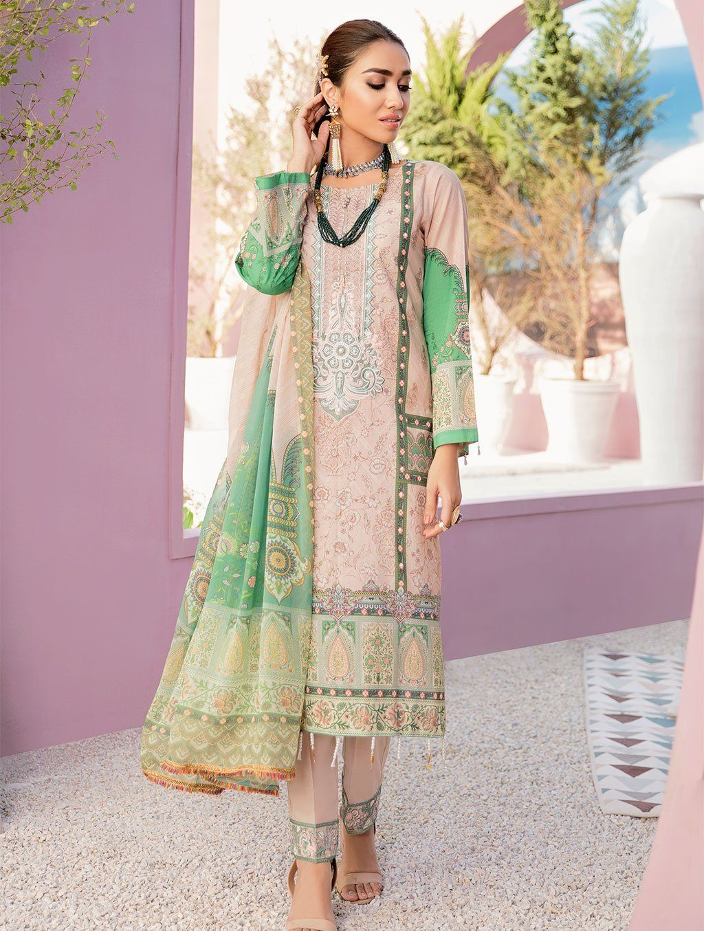 Shirt Shalwar Dupatta KC-5093 Khas Lawn 2020 - Volume 3 FASUNSLAD
