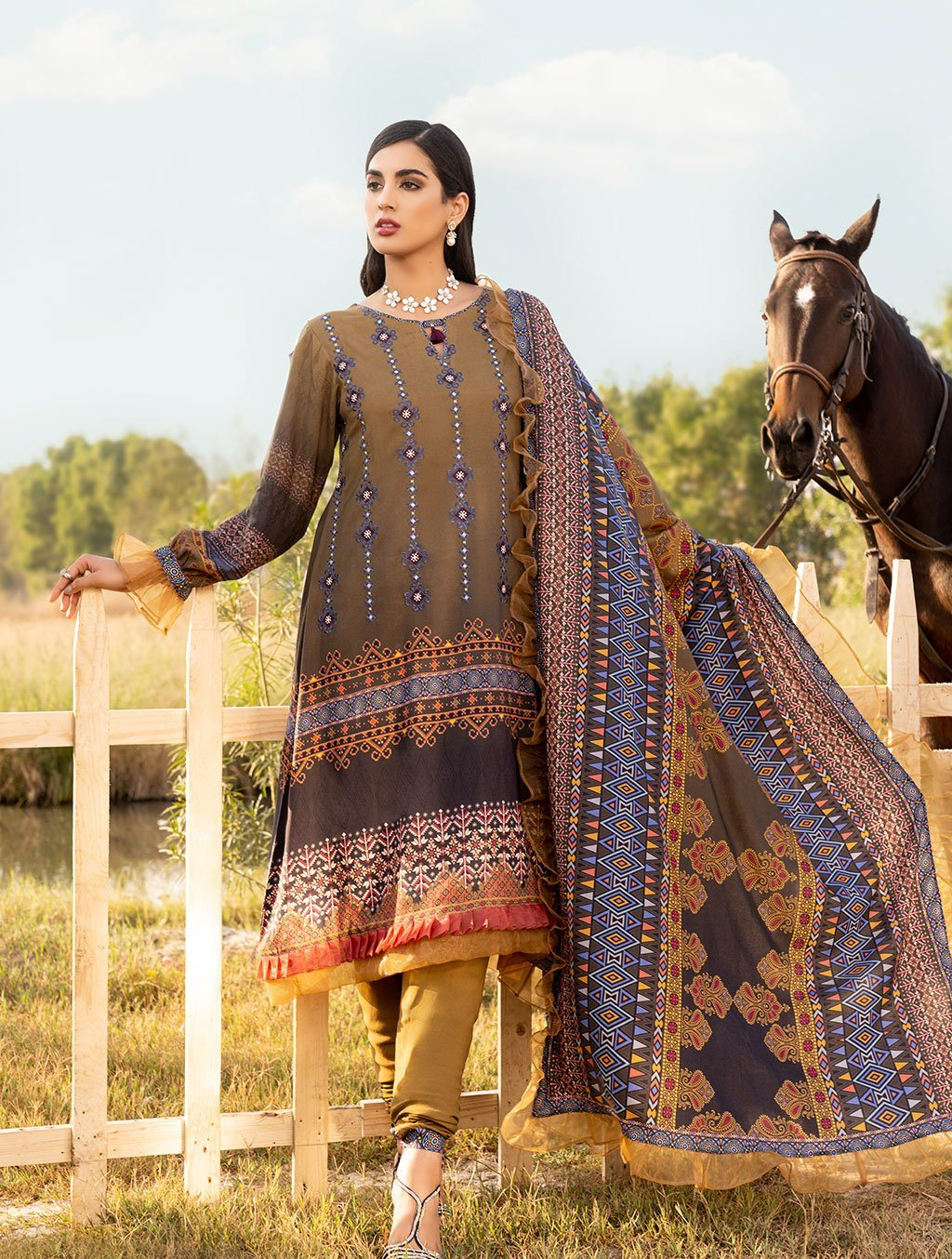 Shirt Shalwar Dupatta KLE-1024 Winter Collection 2020-Vol 2 FASUNSLAD