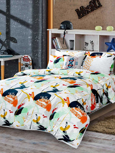SKATE BATTLE Home Collection 20 HOMBEDIMP BED SHEET QUEEN