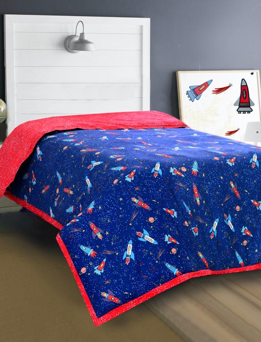SPACE FUN Teens & Kids Bedding HOMBEDIMP QUILT COVER SINGLE