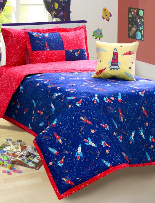 SPACE FUN Teens & Kids Bedding HOMBEDIMP SQ. CUSHION COVER