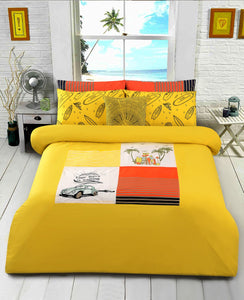 SURF CLUB/YELLOW Teens & Kids Bedding HOMBEDIMP BED SHEET QUEEN