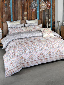 TRIBAL STREAK Home Collection 20 HOMBEDCLU BED SHEET QUEEN