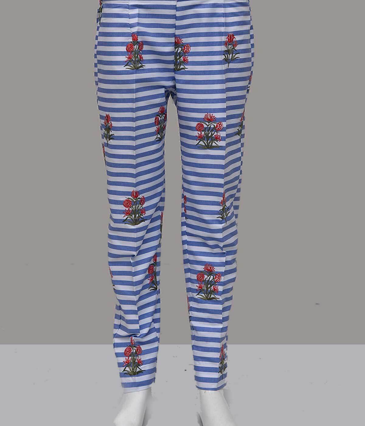 TROUSER TR-1087 BLUE Women Bottoms FASSTILAD