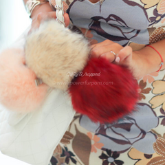 Power Fur Pom Fashion Accessory Power Bank 2000 mAH iPhone & Android WHITE IVORY