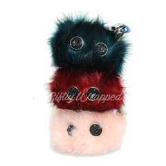 Power Fur Pom Fashion Accessory Power Bank 2000 mAH iPhone & Android PINK LEMONADE