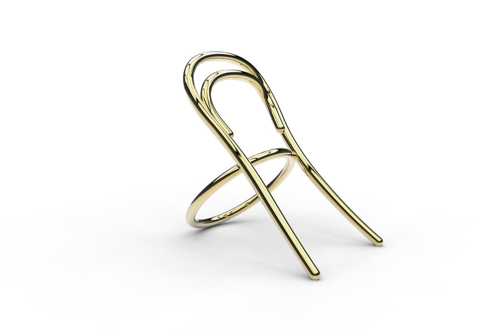 OMAGGIO A THONET, Ring by Odo Fioravanti. Una sedia da indossare, icona del design / A chair to wear, a design icon.