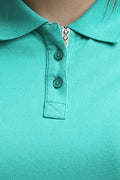 Solid Pattern Polo T-Shirt