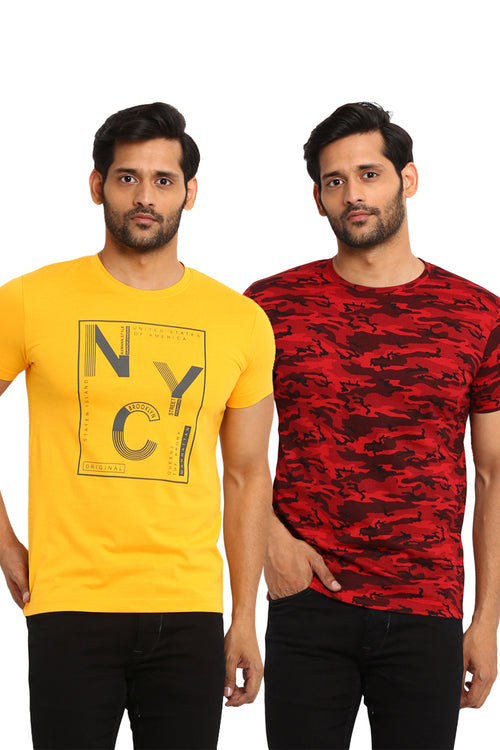 AXMANN Casual T-Shirt Combo Pack (Red | Gold Chrome) - MODA ELEMENTI