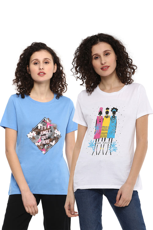 Casual T-Shirt Combo Pack (Blue | White) - MODA ELEMENTI