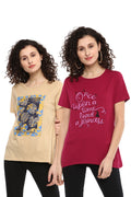 Casual T-Shirt Combo Pack (Red | Beige) - MODA ELEMENTI