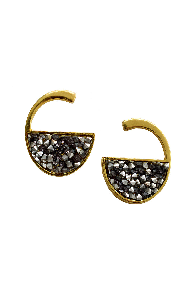 Gold Tiny Crystal Stud Earrings - MODA ELEMENTI