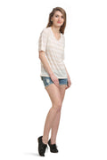 Striper Shot Casual Top - MODA ELEMENTI