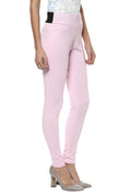 Comfy Match Solid Pink Jeggings - MODA ELEMENTI