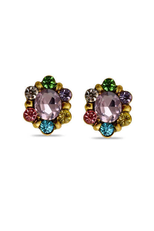 Dazzle Shine Pink Designer Earrings - MODA ELEMENTI