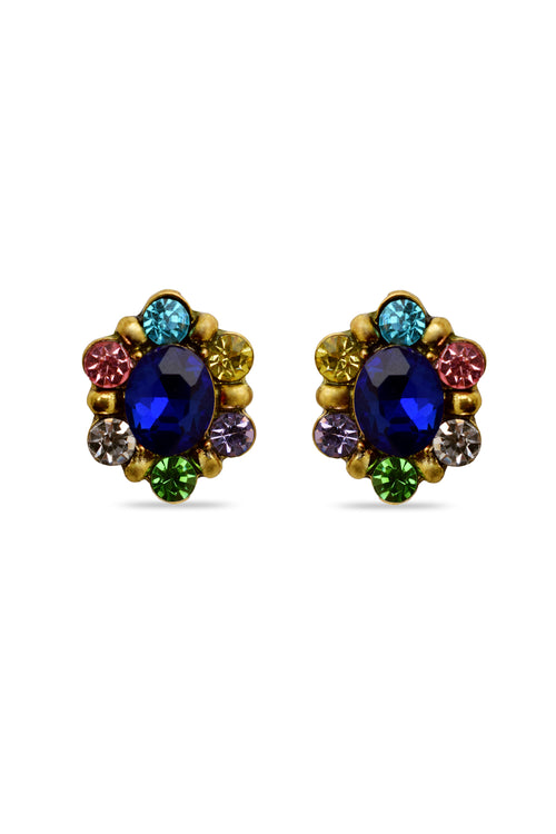 Dazzle Shine Blue Designer Earrings - MODA ELEMENTI