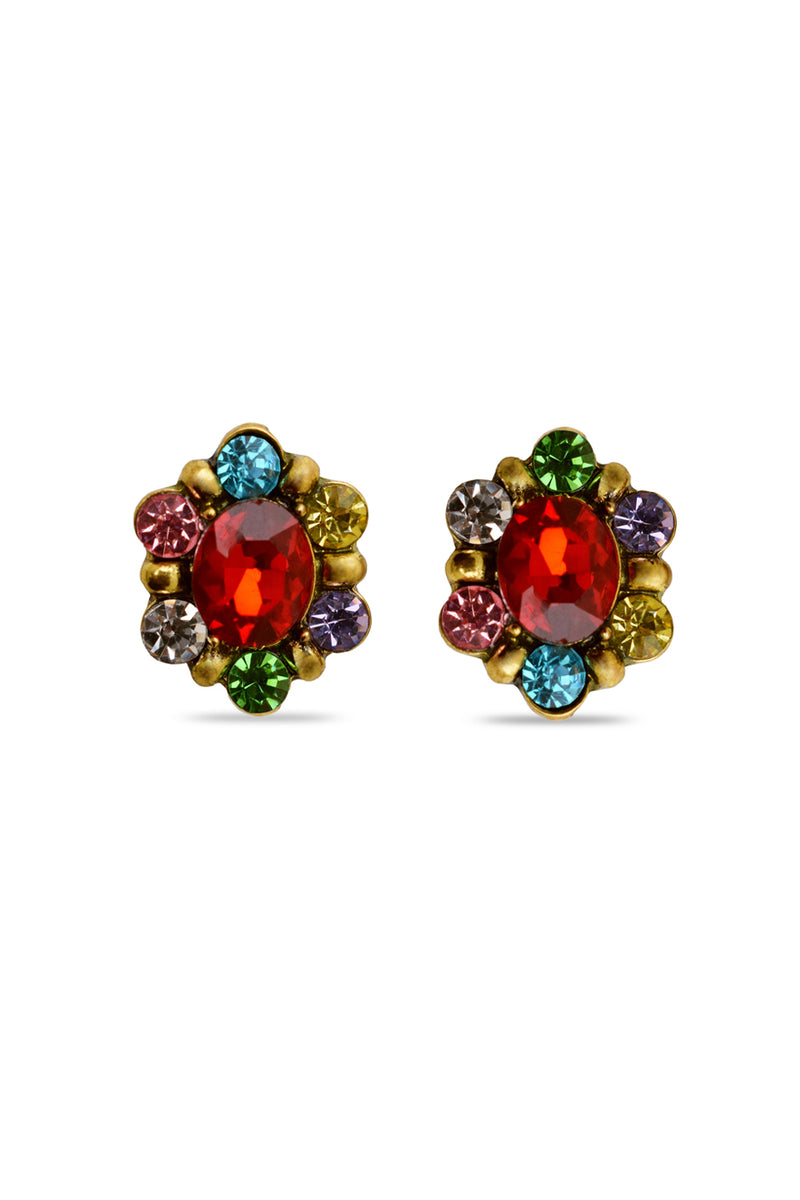 Dazzle Shine Red Designer Earrings - MODA ELEMENTI