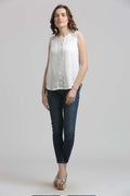 Mystery White Casual Top - MODA ELEMENTI