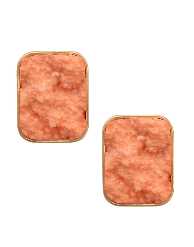 Sea Stone Orange Earrings - MODA ELEMENTI