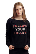 Follow Your Heart Full Sleeve Top - MODA ELEMENTI
