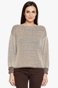 Self Stripe Fall Shoulder Top - MODA ELEMENTI